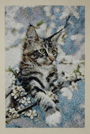 Фото. Кот. Машинная вышивка.  Автор работы - Skarapey
