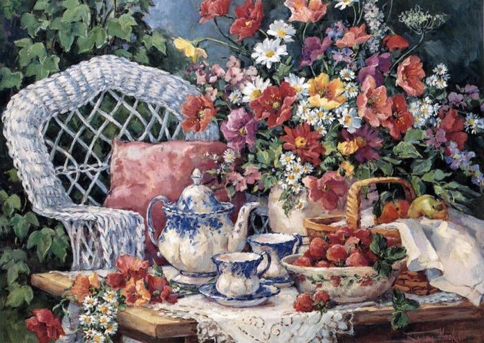 "Фото. ""Tea and Strawberries (Чай и крубника)"", Barbara Mock (США)"