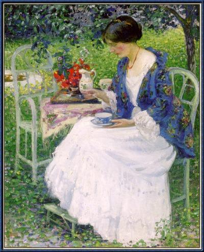 "Фото. ""Чай в саду"", Ричард Эдвард Миллер, ок. 1914"