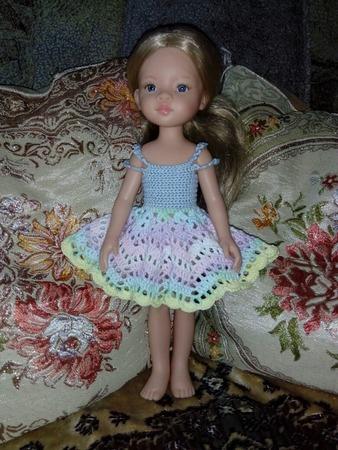 Фото. Куклы - давнишняя моя любовь!  Сарафанчик крючком для куклы.