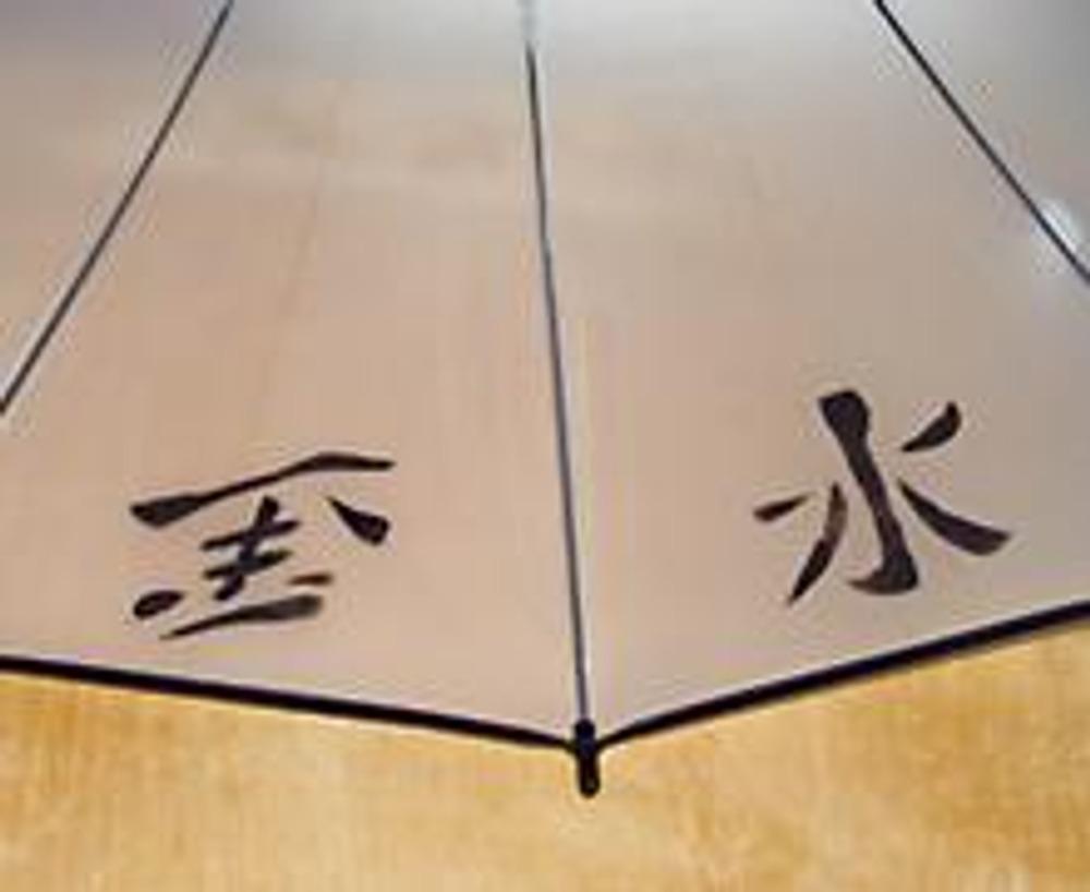 5. Таким образом, декорируйте весь зонтик или только одну его сторону. Важно: Следуйте инструкции на баночке с краской. Обратите внимание на способ закрепления краски!