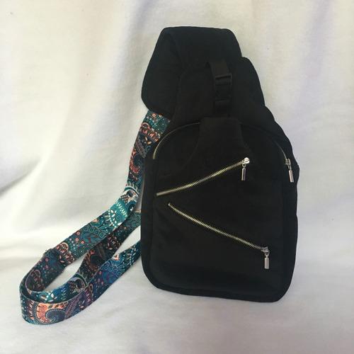 Фото. Хиппи-рюкзак. Цветная стропа Prym просто создана, чтобы шить из нее сумки и рюкзаки. Материал - микровельвет. Автор -, MalTa