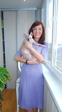 """Фото. Платье """"Аметист в серебре"""", по мотивам  модели Noctua Tetra Tweed (автор Лена Родина).  Автор работы - Краля"""