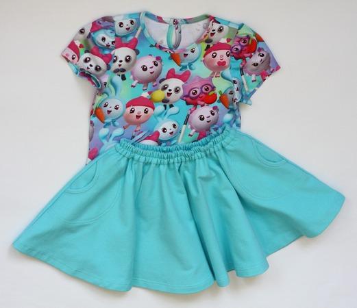 Фото. Комплект: юбка и футболка.  Автор работы - Сара Коннор