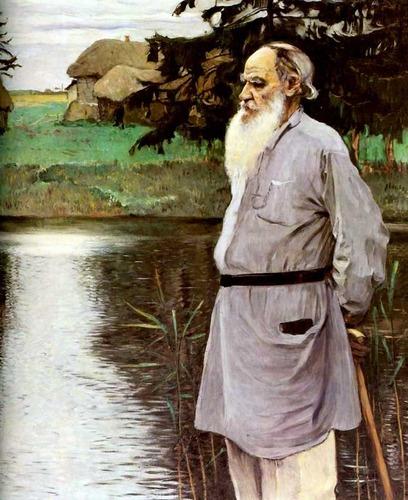 Фото. М.В.Нестеров. Портрет Льва Толстого в толстовке. 1907.
