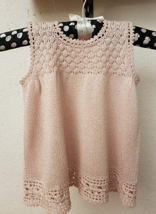 Фото. Вязаное платьице для девочки. Автор работы - Rady