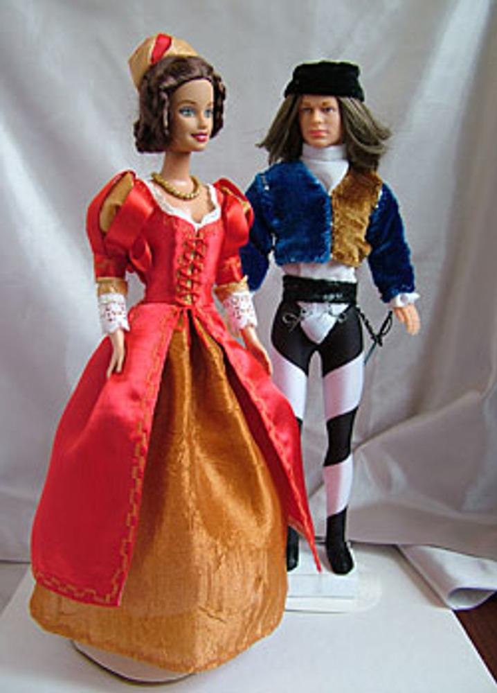 Платье знатной женщины в эпоху Высокого Возрождения отчетливо разделяется на юбку и лиф. Юноши носили узкую короткую куртку поверх рубашки.