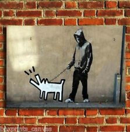 "Фото. Banksy - ""Keith Haring Dog & Hoodie"""