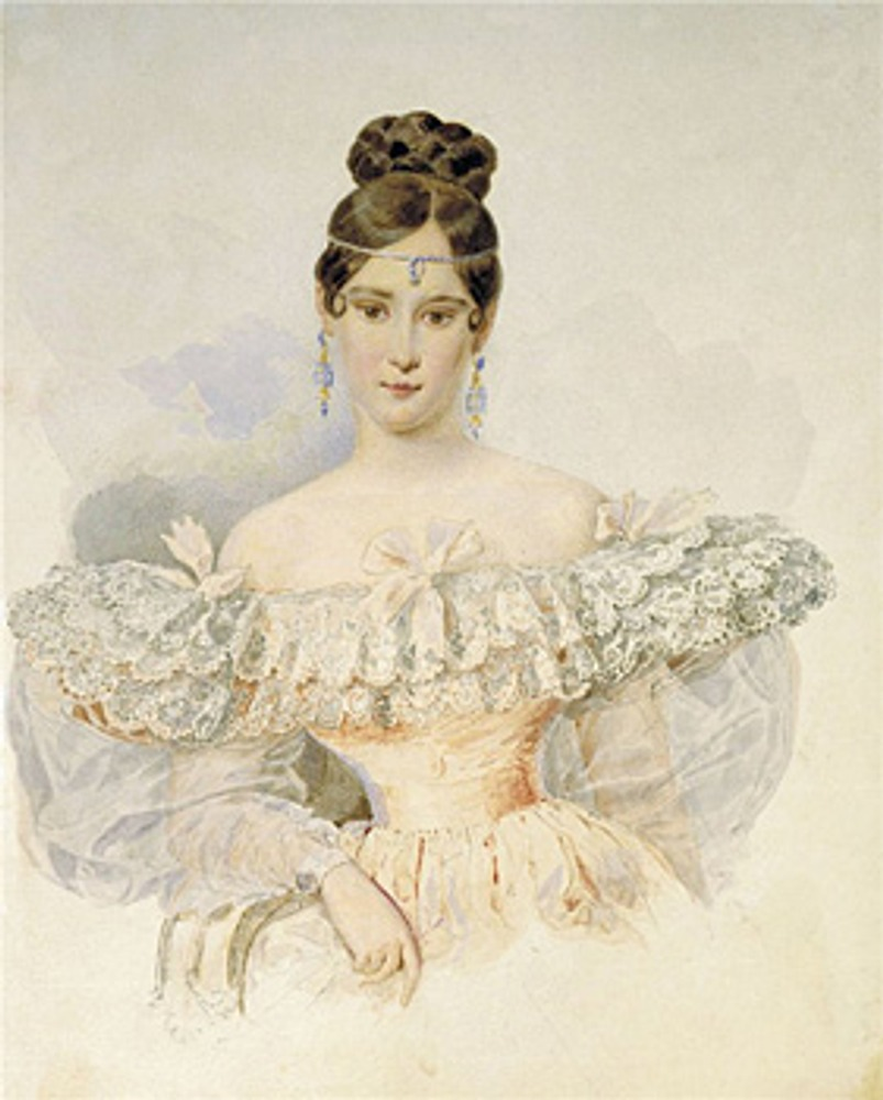 "Фото. А. Брюллов ""Портрет Н.Н. Пушкиной"", 1832 г."