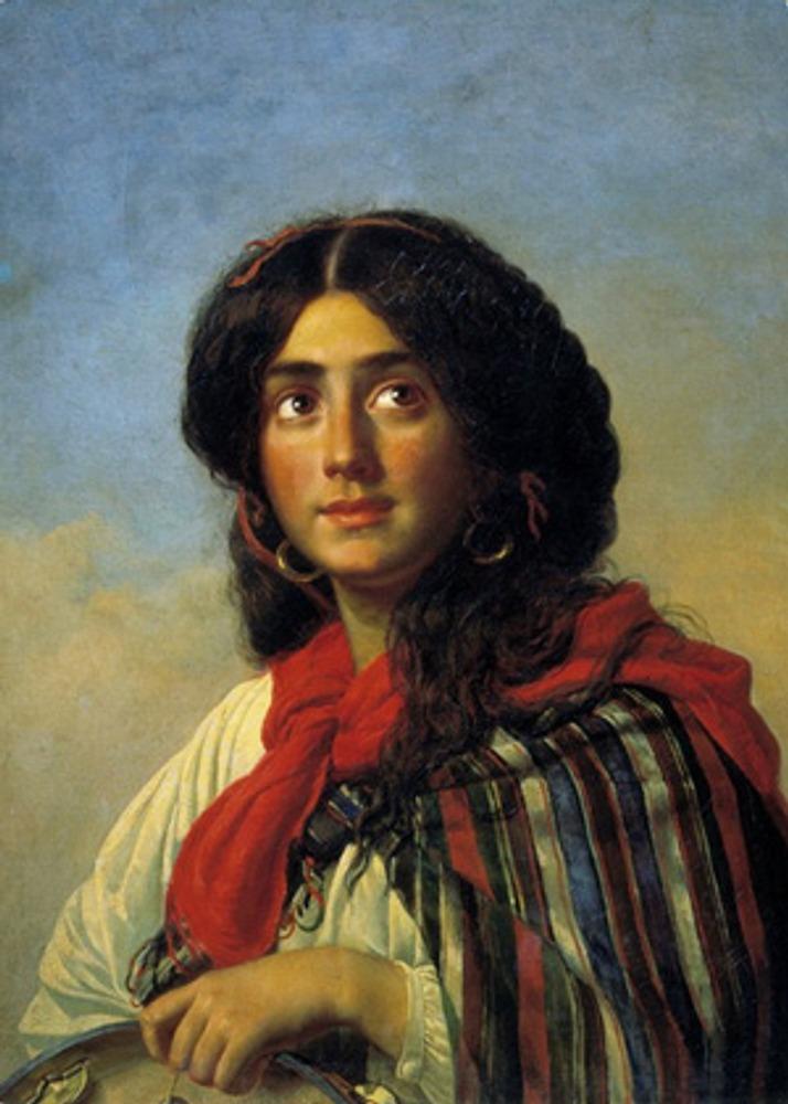 """Фото. К. Маковский """"Восточная девушка (Цыганка)"""", 1878 г."""