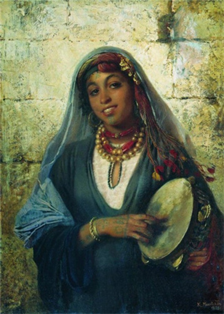 """Фото. К. Горбунов """"Цыганка"""", 1851 г."""