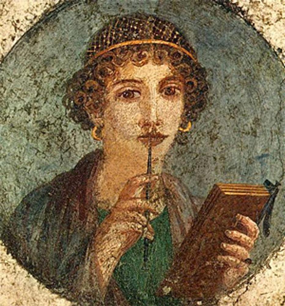 "Фото. ""Мальчик со стилом"",  Древний Рим, Помпеи. Нач. I в."