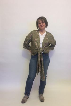 Фото. Накидка в стиле хиппи и шейный платок.   Автор работы - MalTa