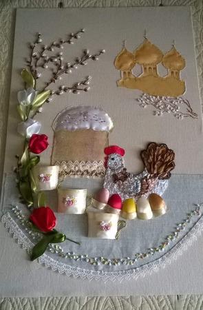 Фото. Пасхальная вышивка лентами. Автор фото - svetaDI2