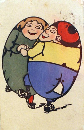 Фото. Пасхальные открытки,производимые для России в Германии.