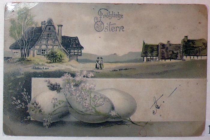 Фото. Пасхальная открытка. Германия. Конец XIX века. .