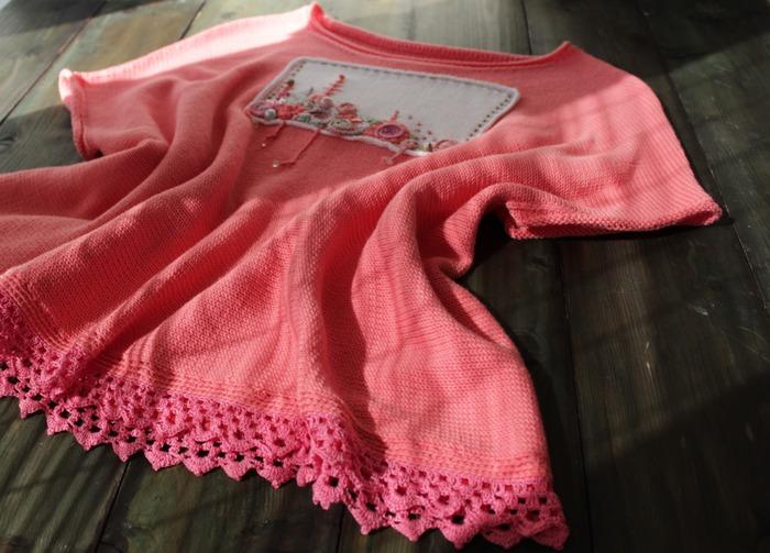 Фото. Розовая кофточка.   Автор работы - innasun