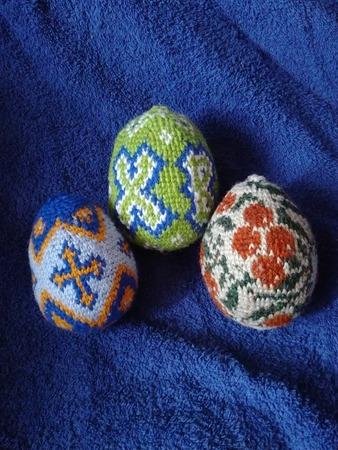 Фото. Пасхальные яйца из остатков пряжи.  Автор фото - НатТусся