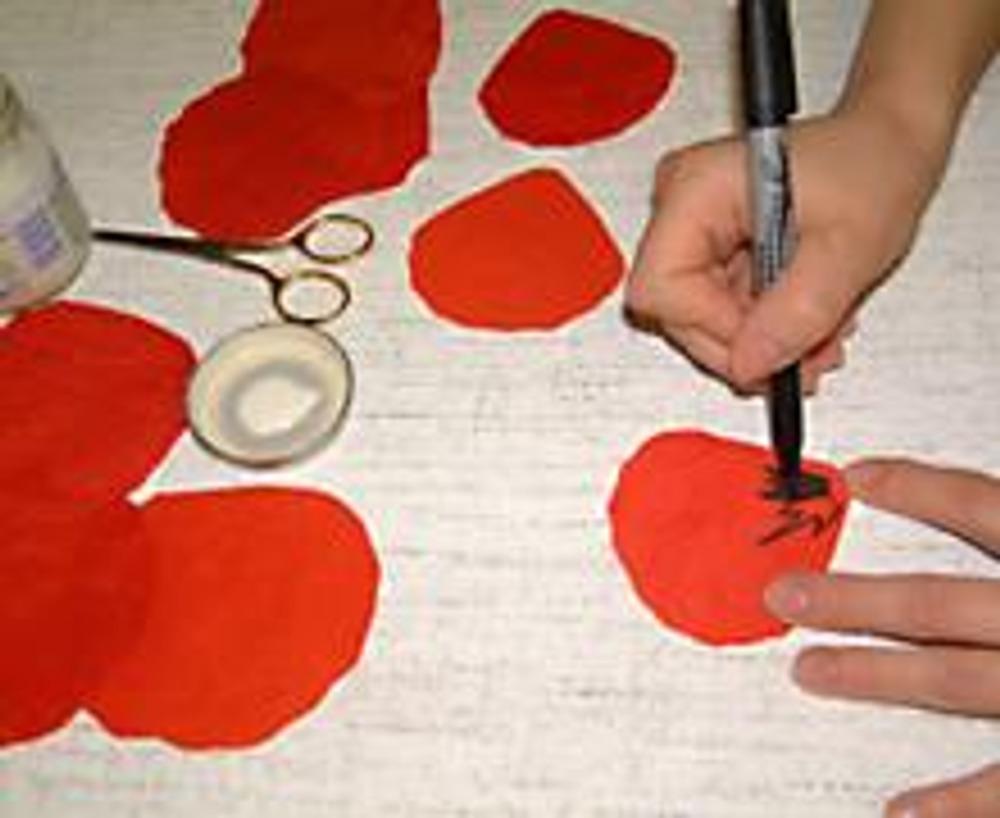 Как сделать маки из ткани своими руками