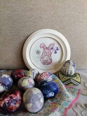 Фото. Всех с весенним праздником!  Пасхальная вышивка для декора и подарков.  Автор работы - Vilma