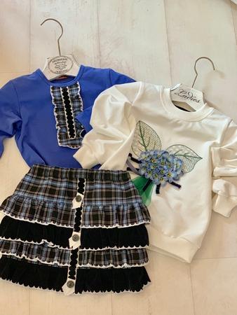 Фото. Весенний комплект: юбочка и два «верха» к нему.  Автор работы - Surochek