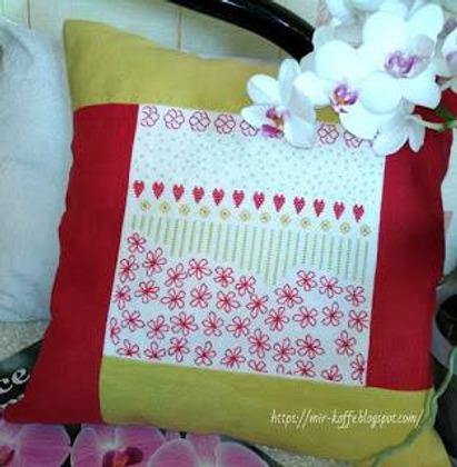 Фото. Подушка с вышивкой.  Автор работы - ludmilk_@