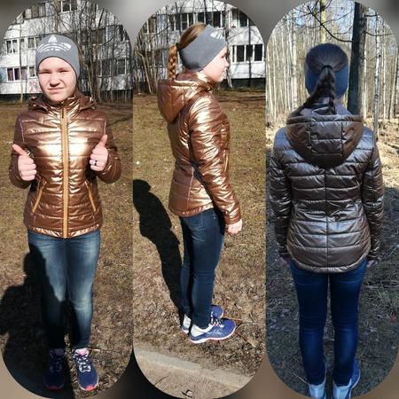 Фото. Куртка из метализированной плащевки на подростка.  Автор работы - ssvveettaa