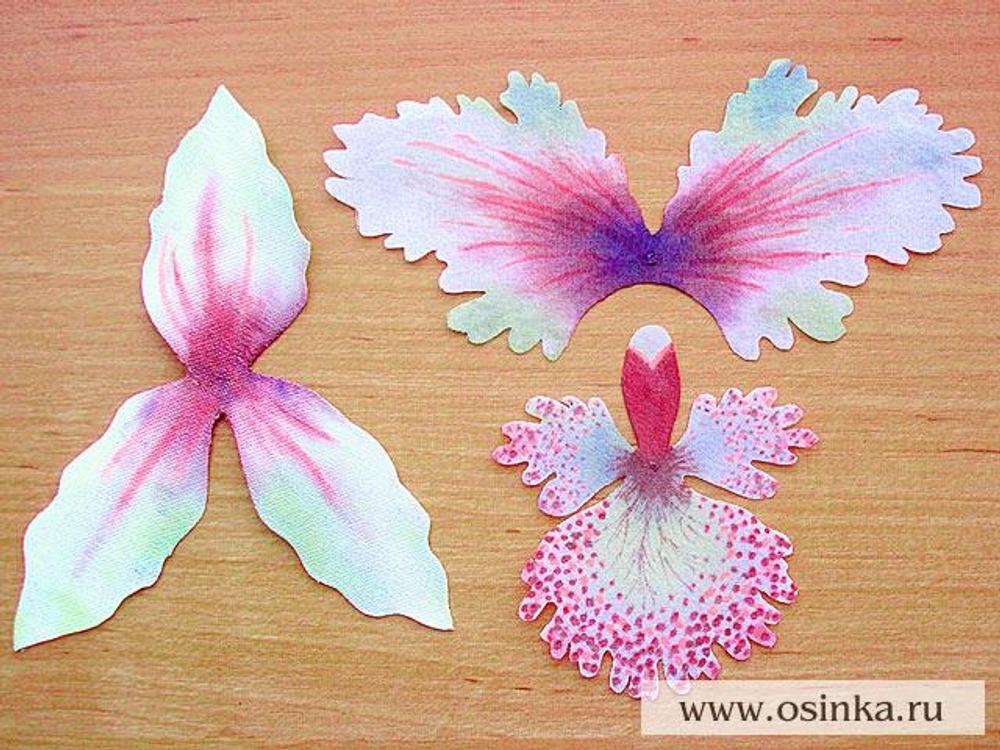 Орхидеи из ткани своими руками мастер класс