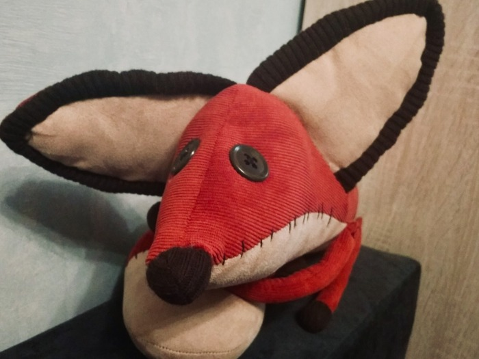 Фото. Лис, друг Маленького Принца - игрушка из вельвета. Автор работы - Веревочк@