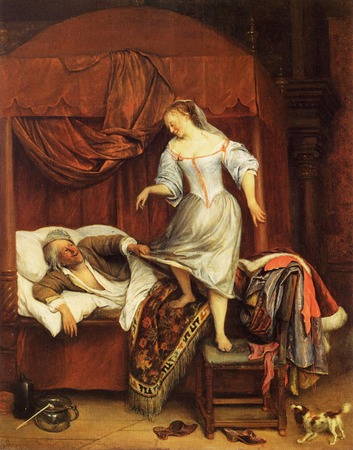 "Фото. Стен Ян(Steen Jan) ""Couple in a Bedroom"",1668-1670, Museum Bredius"