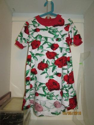 Фото. Платье внучке с перепадом длины.   Автор работы - Бебичек
