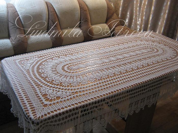 Фото. Скатерть Чарующая...на прямоугольный стол. размер 130х210.  Автор работы - Goslis