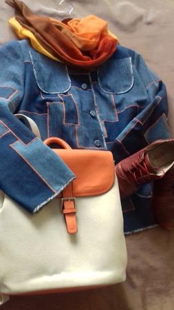 Фото. Жакетик. Исходные материалы: несколько пар джинсов, старая рубашка для бейки. Автор работы - Любушка-голубушка