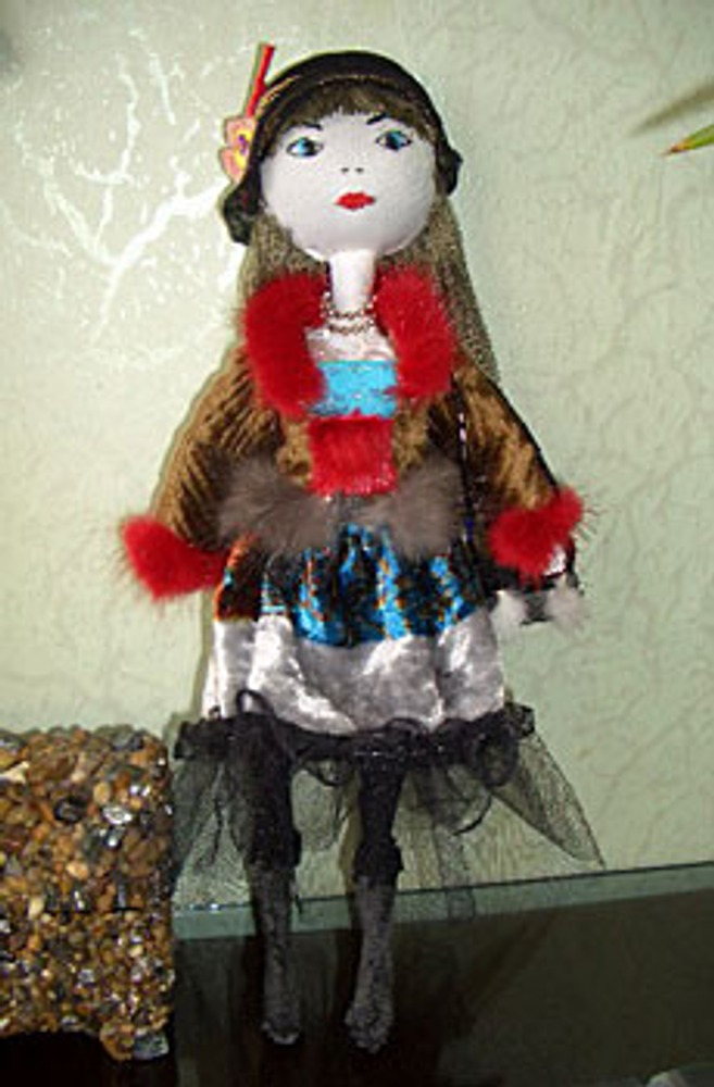 Кукла из капроновых колготок.