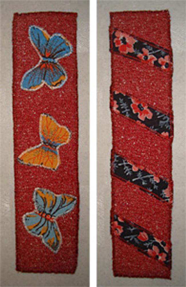 Фото 3. Закладки из плательной ткани с аппликацией или вставками из ситца.