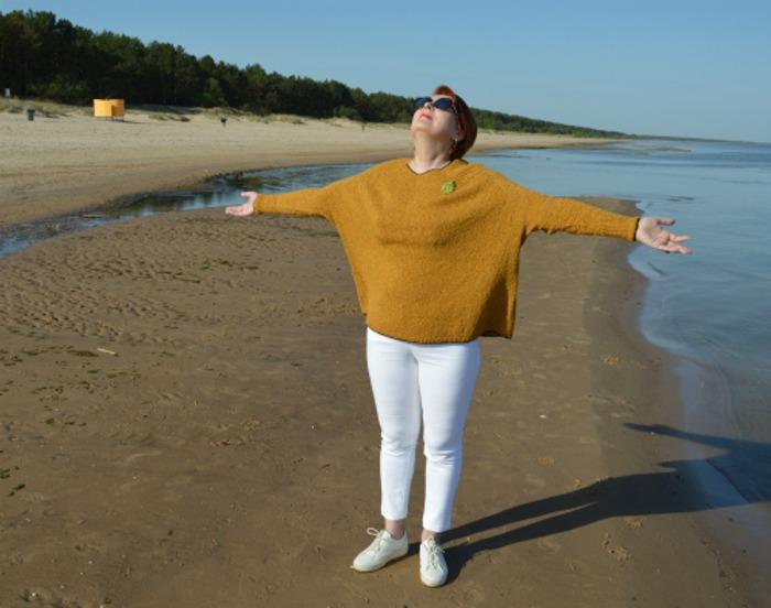 """Фото. """"Морские прогулки"""", джемпер Изабель от Ludmilaprecize. Пряжа - твид.  Автор работы - Komiljfo"""