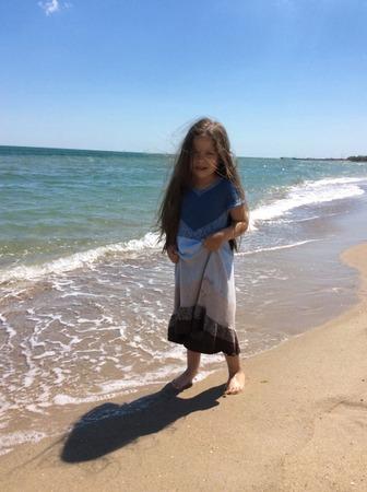 Фото. Платье для девочки по мотивам свитер «Чайка».   Автор работы - Анжи