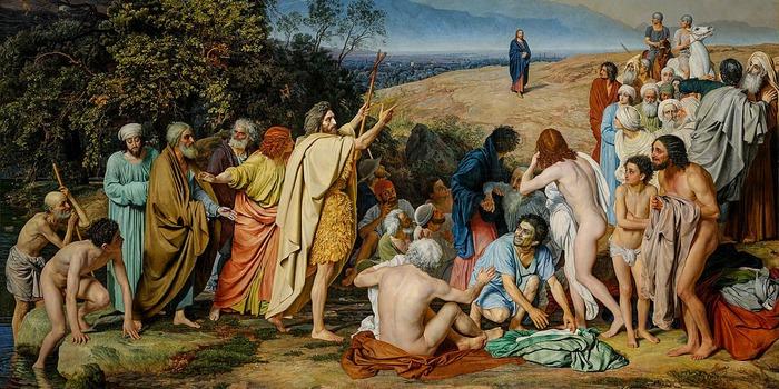 "Фото. А. Иванов ""Явление Христа народу"", 1837—1857."