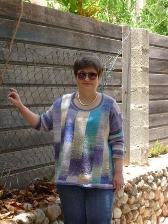 "Фото. Пуловер оверcайз ""Акварель"".   Автор работы - Anlisa"
