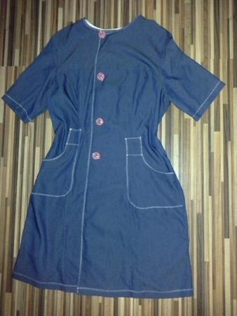 Фото. Платье из тонкой джинсы.   Автор работы - nnida