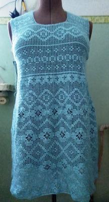 Фото. Платье в филейной технике.   Автор работы - Shamora