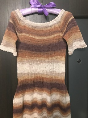 Фото. Капуччиновое платье из Коттон голд от Ализе.  Автор работы - Violinka1707