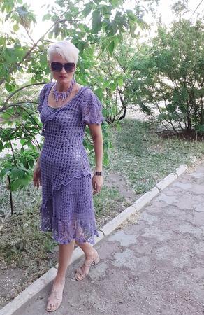 Фото. Платье, пряжа хлопок моточный, крючок 1,4. Автор работы - ckripkina