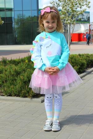 Фото. Единорожка - комплект свитшот +юбка.   Автор работы - cvetok1977