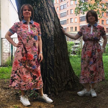 Фото. Платье из поплина.   Автор работы - MalTa