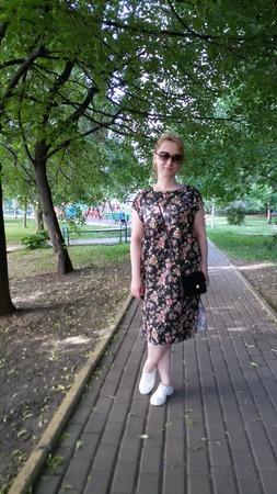 Фото. Платье из тонкой джинсы цветной.   Автор работы - narzisik