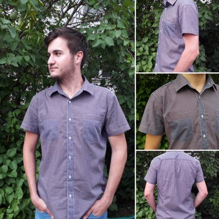 Фото. Рубашка для сына - полуприлегающий силуэт, минимум деталей.  Автор фото - YasyaMasya