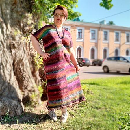Фото. Ханакотоба, платье из Noro Kon-Nyaku 35.  Автор работы - vip yarn