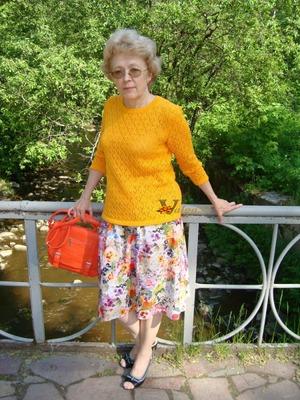 """Фото. Пуловер   """"Оранжевое настроение"""".   Автор работы - Valga52"""