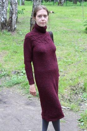 Фото. Первое вязаное платье. Пряжа - твид. Автор работы - aysvays